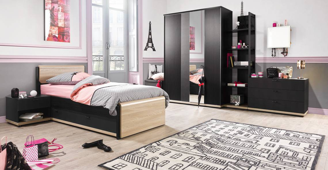 chambre coucher urban des meubles gautier vente mobilier chambres coucher. Black Bedroom Furniture Sets. Home Design Ideas